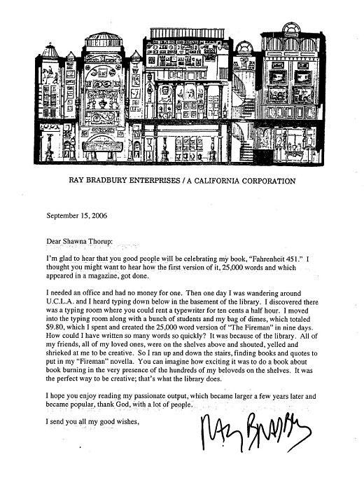Fayetteville Public Library letter